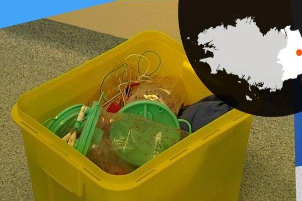 La filière jaune des déchets hospitaliers concerne tous les objets souillés par du sang ou un autre liquide biologique.