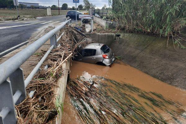 Inondations à Aigues-Vives (Gard) le 14 septembre 2021