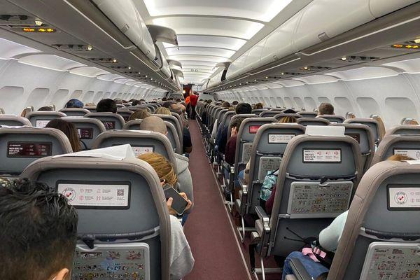A l'intérieur d'un vol au départ de Nice.