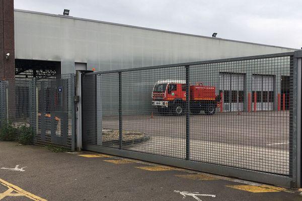 Grilles fermées à la caserne de Rouen-Sud le 20 mai 2019