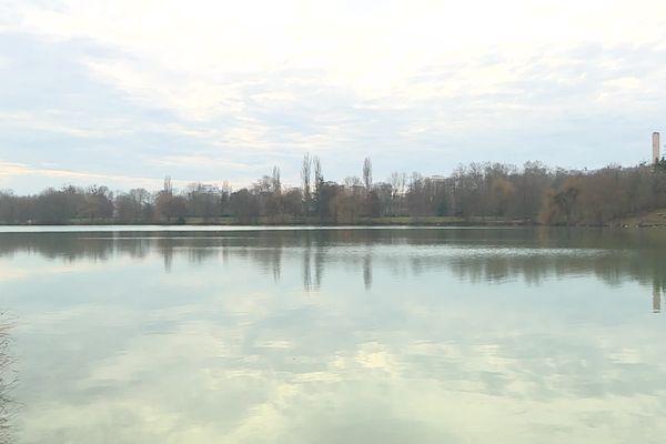 Le lac Kir à Dijon, ce jeudi 18 février.