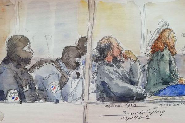 Mohamed Amri et Anne Diana Clain devant le tribunal correctionnel de Paris le 19 novembre 2019