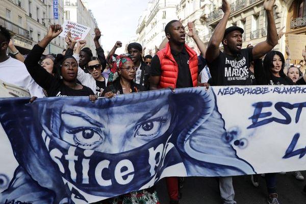 Une marche pour demander justice dans l'affaire Adama Traoré, le 13 octobre 2018 à Paris.
