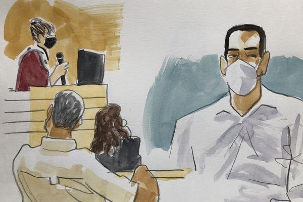 Laurent Dejean accusé du meurtre de Patricia Bouchon face à l'avocat général dans le procès en appel devant la cour d'assises du Tarn