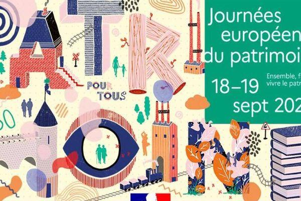 """Affiche """"Journées européennes du patrimoine 2021"""""""