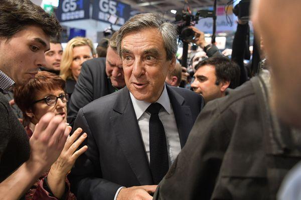 François Fillon, au salon de l'Agriculture quelques heures après l'annonce d'une possible mise en examen.