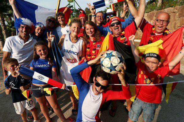 Belges et Français rivalisent d'imagination pour parier sur la victoire de leur équipe...