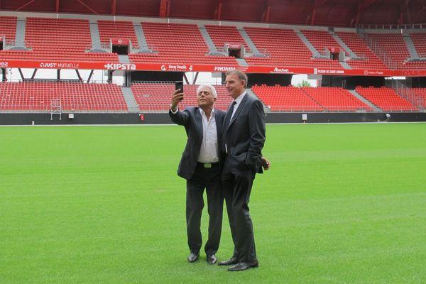 Patrick Partouche et Eddy Zdziech au Stade du Hainaut, à Valenciennes, en juin 2017.