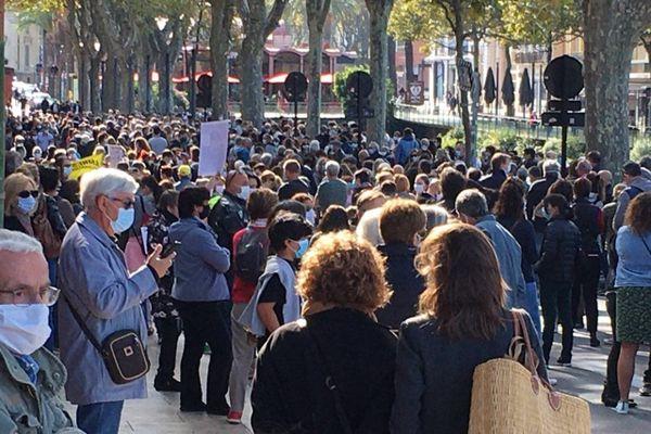 A Perpignan, une foule pour soutenir la liberté d'expression.
