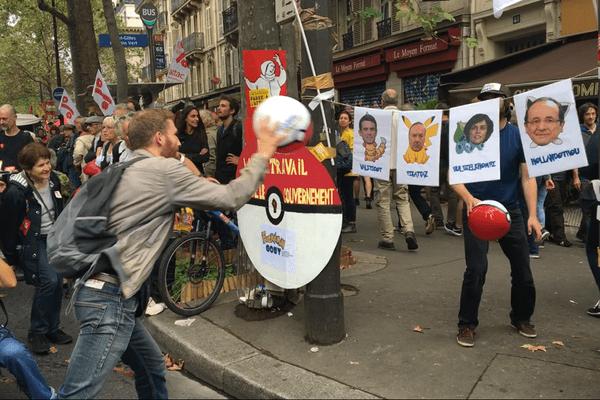 De 12.500 (police) à 40.000 (CGT) manifestants à Paris, contre la loi Travail.