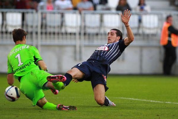 Crivelli sauve Bordeaux en égalisant in extremis face à Toulouse le 20 septembre 2015, lors de la 6e journée de L1.