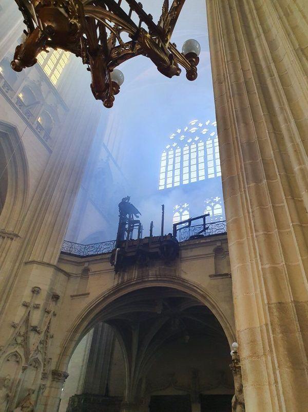Le grand orgue de la cathédrale de Nantes ravagé par un incendie le 18 juillet 2020