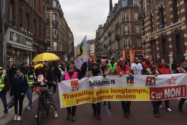 Mobilisation contre la réforme des retraites, le 28 décembre 2019