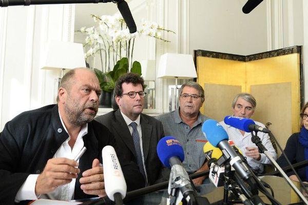 Me Dupond Moretti se joint désormais à la défense de Pascal Fauret (au centre) et Bruno Odos (absent)