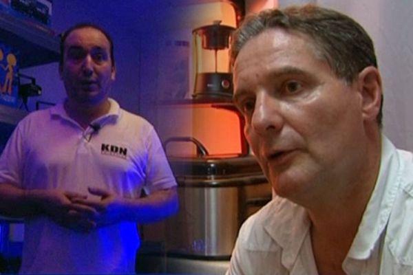 """Les """"ex-Bibs"""" Karim Naggaz (g) et Didier Loth (d) tentent aujourd'hui de se reconvertir."""