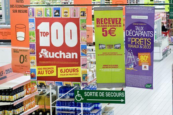 Dans un magasin Auchan (2017).