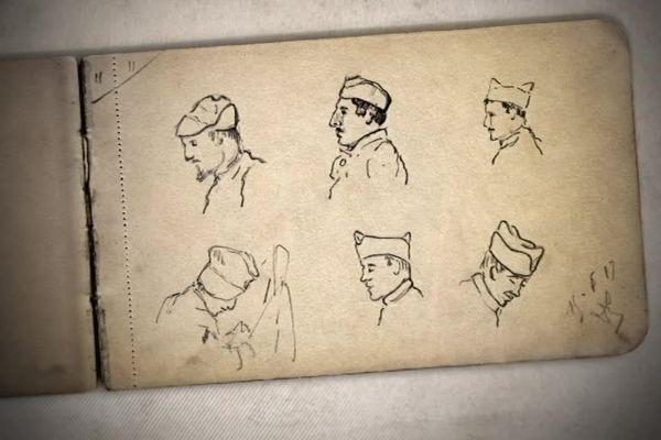crayonnés de Louis Delozanne
