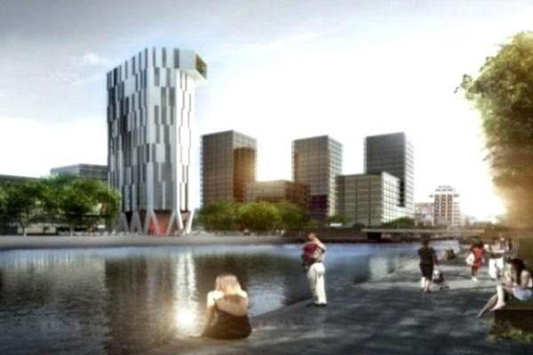 La future tour à énergie positive de l'éco-quartier Danube