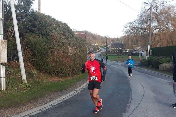 Sébastien Mention a créé une association de course à pied à Vailly-sur-Aisne qui compte aujourd'hui 30 adhérents