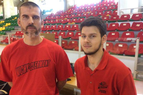 Guillaume Vizade et Jonathan Nebout,  nouveau staff du club de basket, Vichy-Clermont-Métropole.