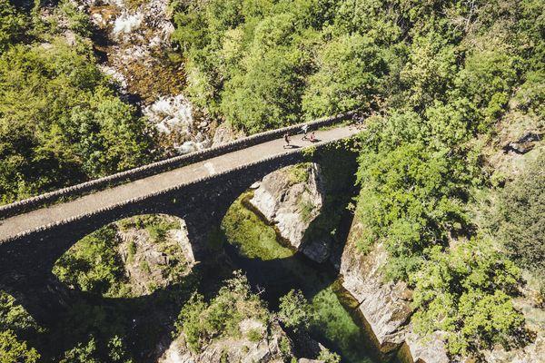 Le trail de François Laupin reliait saint-Martin d'Ardèche au col de la Chavade soit 110 km