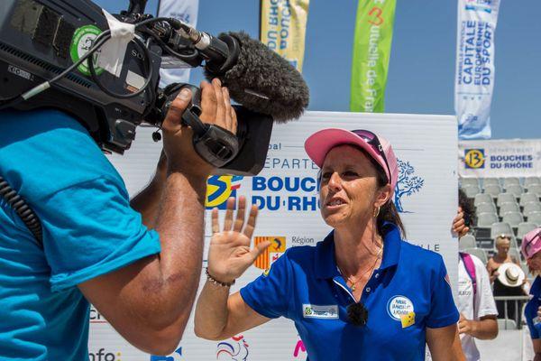 Marie-Christine Baudens-Ponsi après sa victoire contre la triplette Vierjon