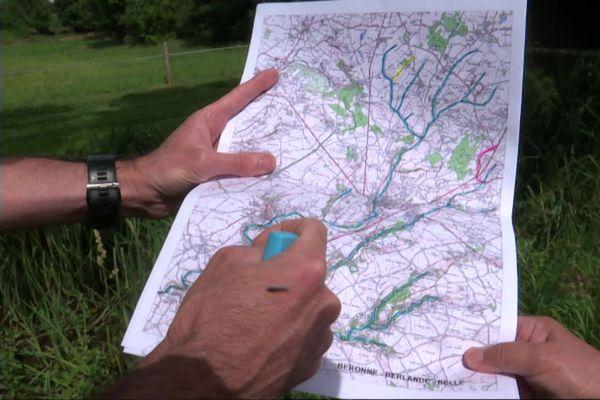 La carte établie par la fédération de pêche des Deux-Sèvres en ce début juillet
