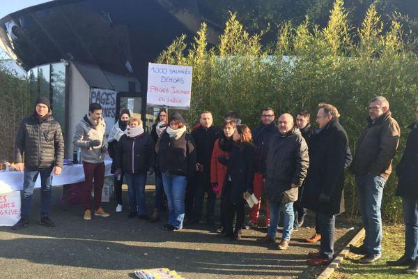 Les salariés des Pages Jaunes en grève à Poitiers.