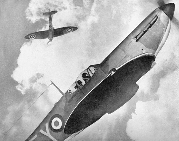 Des Spitfire britanniques photographiés en 1940.