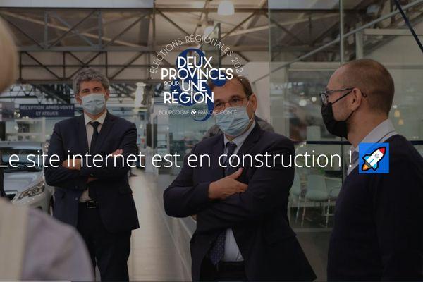 Capture d'écran du site internet de Gilles Platret le 17 mai 2021