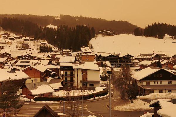 Les Gets en Haute-Savoie ce 6 février 2021.