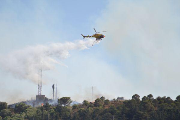 L'intervention des sapeurs-pompiers étaient toujours en cours en fin d'après-midi, ce samedi 31 juillet.