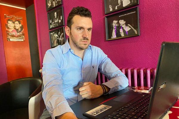 Grégory Cometti - 11/12/20 - le propriétaire du KFT, café-théâtre de Saint-Galmier, dans la Loire, ne cache pas sa déception.