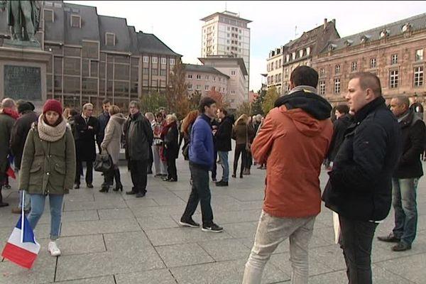Le rassemblement citoyen place Kléber cet après-midi