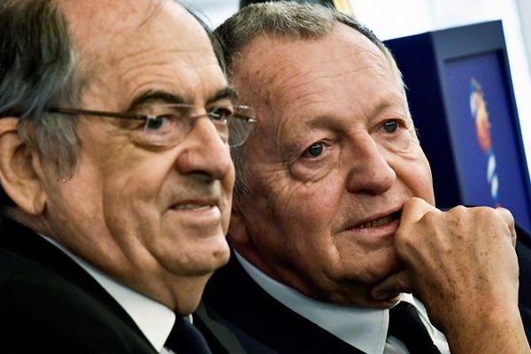 Jean-Michel Aulas, ici avec Noël le Graët,  convoiterait le poste de président de la Fédération Francaise de Football en 2020