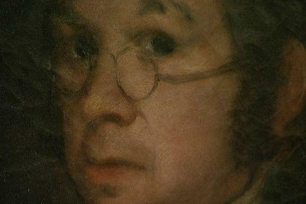 """""""L'Autoportrait aux lunettes"""" de Francisco Goya est une huile sur toile peinte vers 1800."""