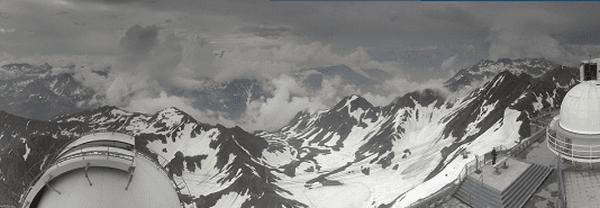Les Pyrénées sous l'orage