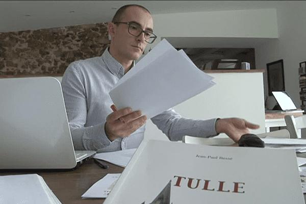 Xavier Badefort, auteur du livre sur Tulle
