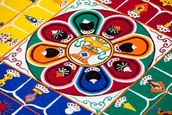 Le mandala confectionné lors de la tournée des moines tibétains en 2015