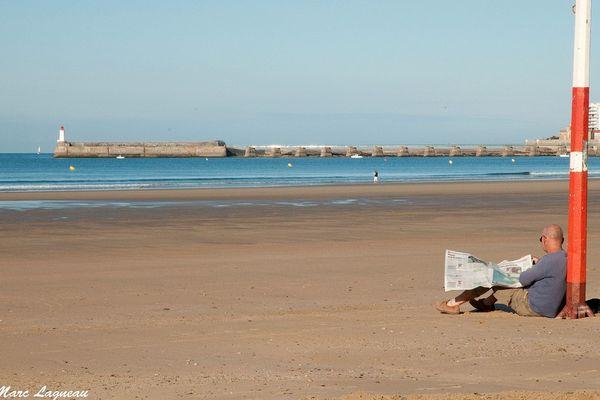 Sur la grande plage des Sables d'Olonne