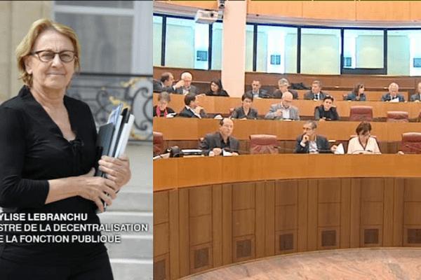 Réforme territoriale en Corse, Marylise Lebranchu, ministre de la décentralisation et de la fonction publique