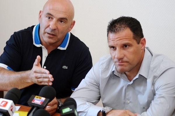 Laurent Labit (à droite), qui entraîne le CO avec Laurent Travers, espère que son aventure avec Castres l'emmènera jusqu'à la finale du Top 14.