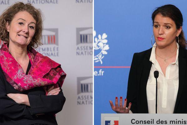 Sophie Auconie, députée de l'Indre-et-Loire et Marlène Schiappa, secrétaire d'État chargée de l'Égalité entre les femmes et les hommes.