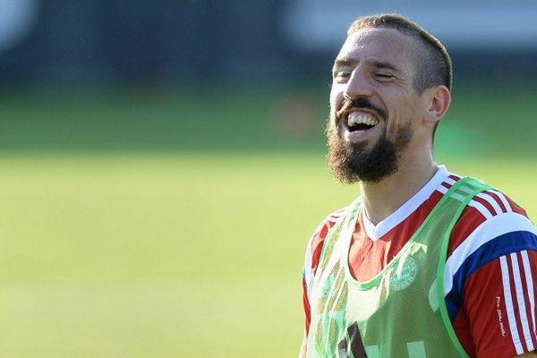 Franck Ribéry à l'entraînement lundi avec le Bayern Munich.