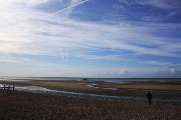 La plage de Camber Sands, près de Rye, était l'une des zones de débarquement prévues par les Allemands.