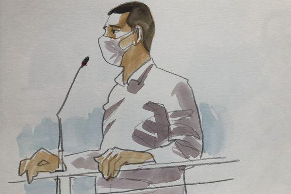 Laurent Dejean dans le box des accusés devant la cour d'assises du Tarn. Juillet 2021. Il nie toujours avoir tué Patricia Bouchon.