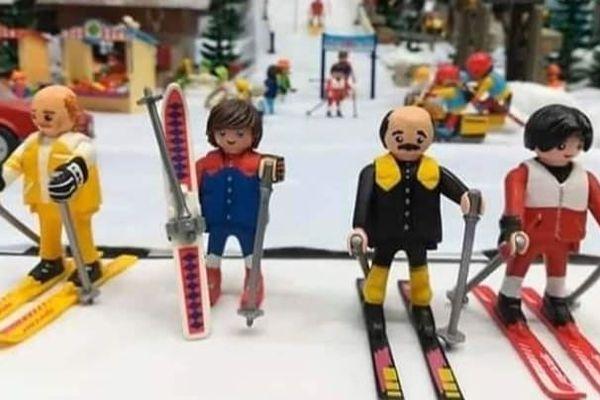 Jean-Claude Dusse, Popeye, Bernard Morin et le docteur Jérôme Tarere en version Playmobil.