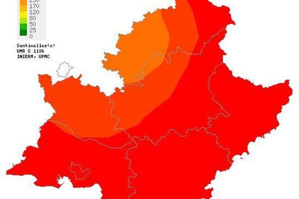 La région PACA est la région la plus touchée par l'épidémie de grippe