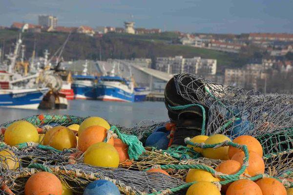 L'activité du port de Boulogne-sur-Mer est estimée à environ un quart de son niveau habituel