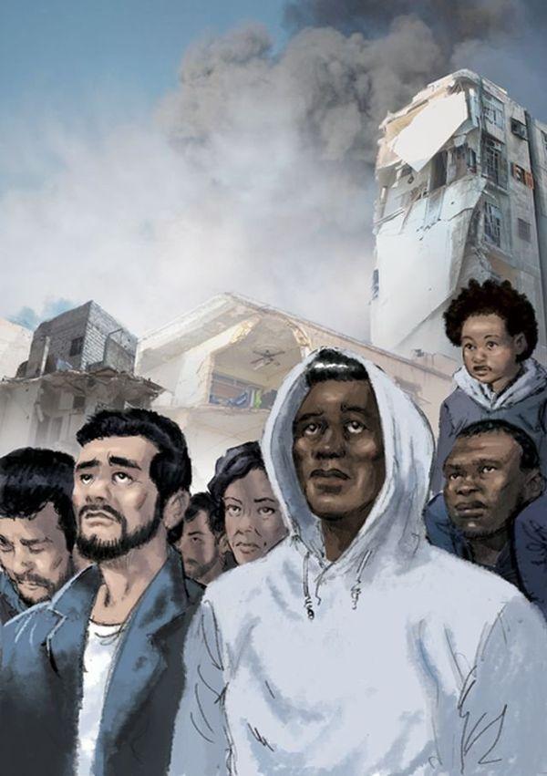 """Le visuel de l'affiche """"humaniste"""" qui sera bientôt dans les rues de Béziers"""